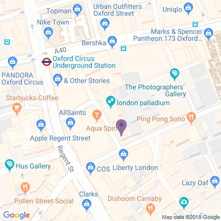 Locatie van London Palladium