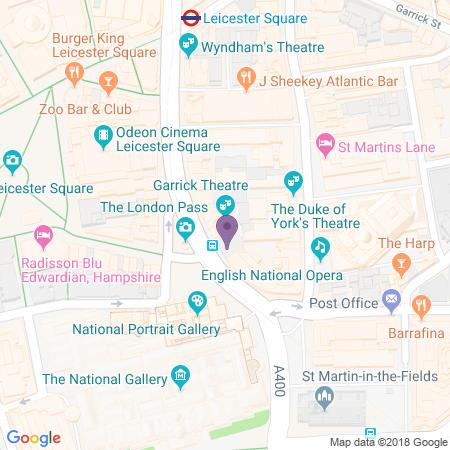 Locatie van Garrick Theatre