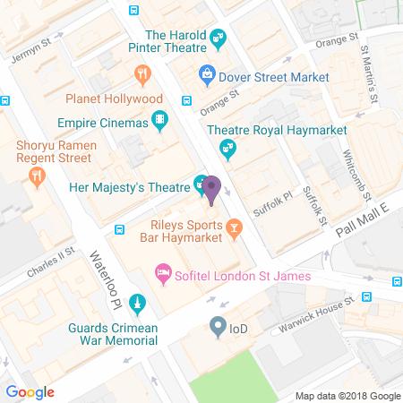 Locatie van Her Majesty's Theatre