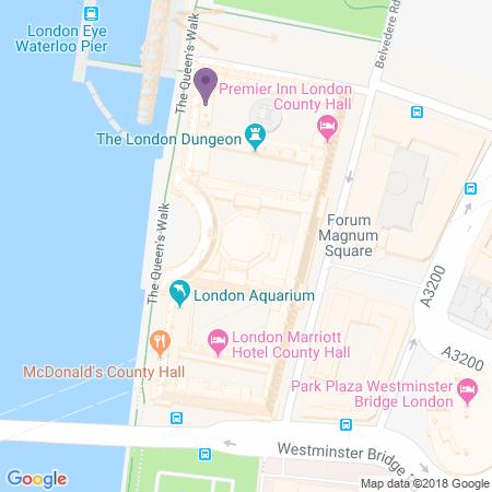 Locatie van London County Hall
