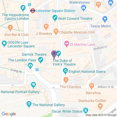 Locatie van Duke of York's Theatre