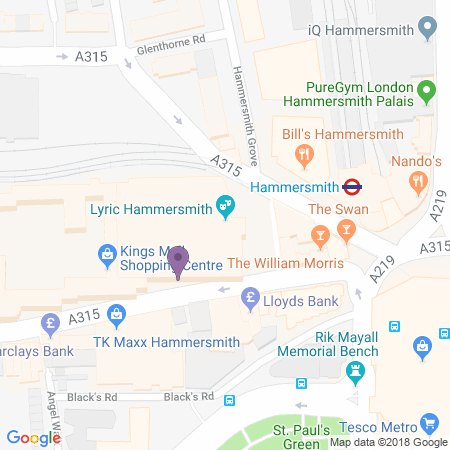 Locatie van Lyric Hammersmith