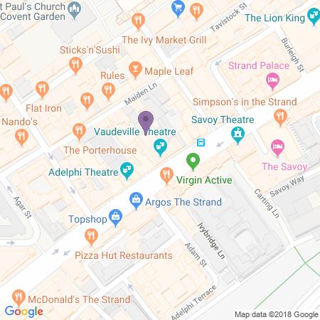 Locatie van Vaudeville Theatre