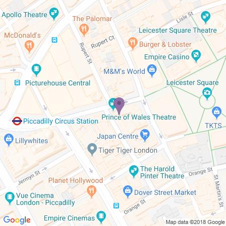 Locatie van Prince of Wales Theatre