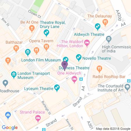 Locatie van Duchess Theatre