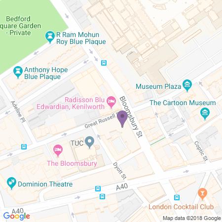 Locatie van Radisson Blu Edwardian