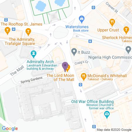 Locatie van Trafalgar Theatre