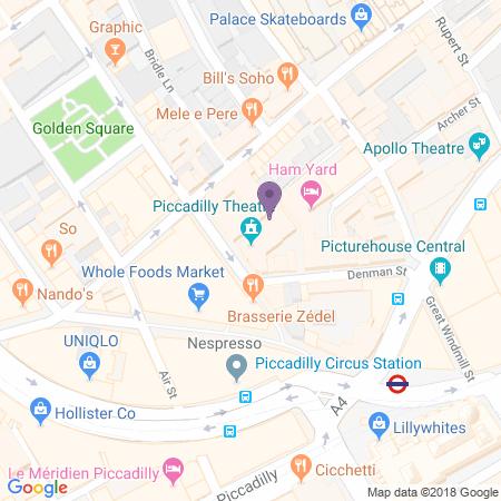 Locatie van Piccadilly Theatre