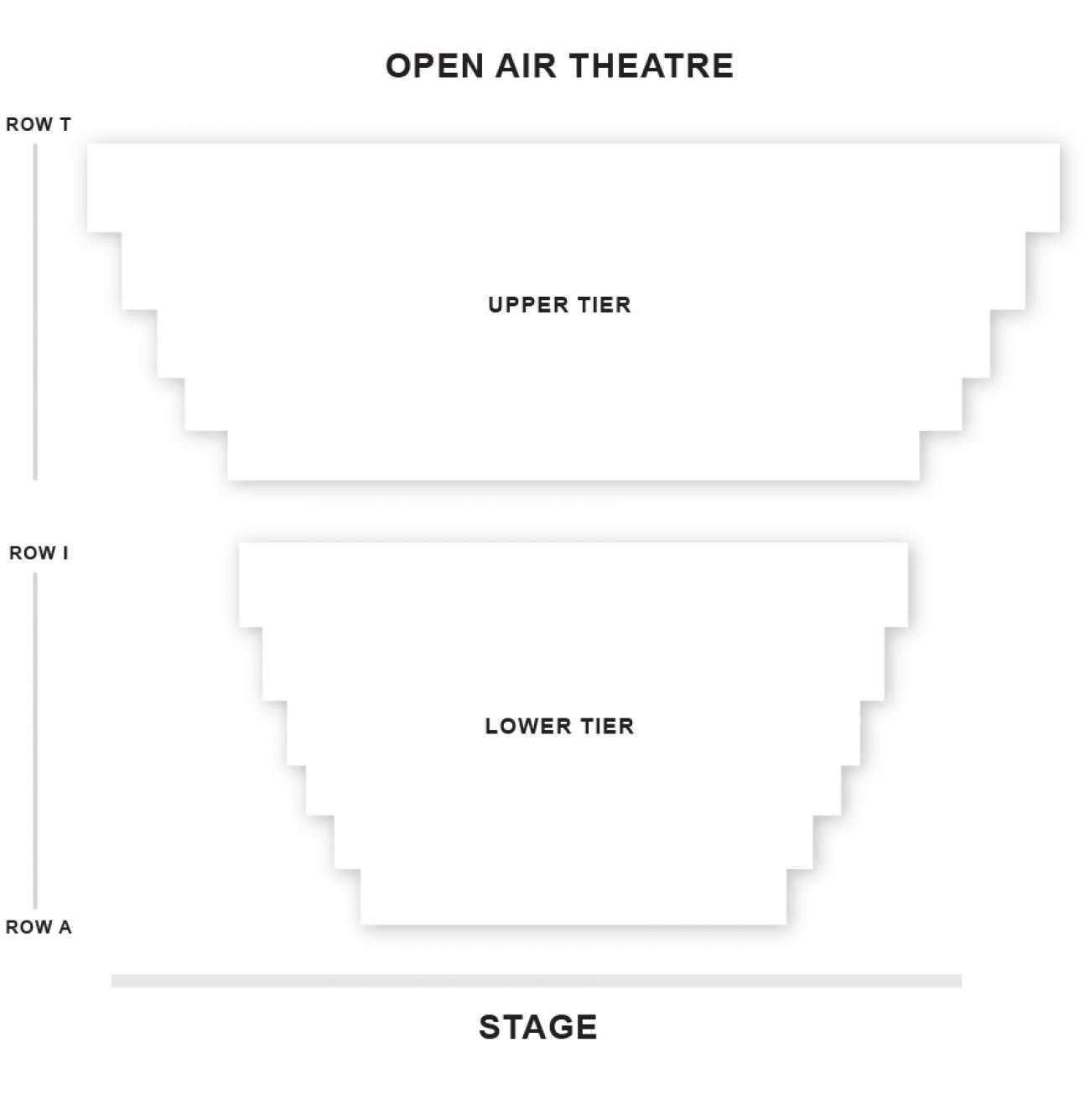 Open Air Zaalplan