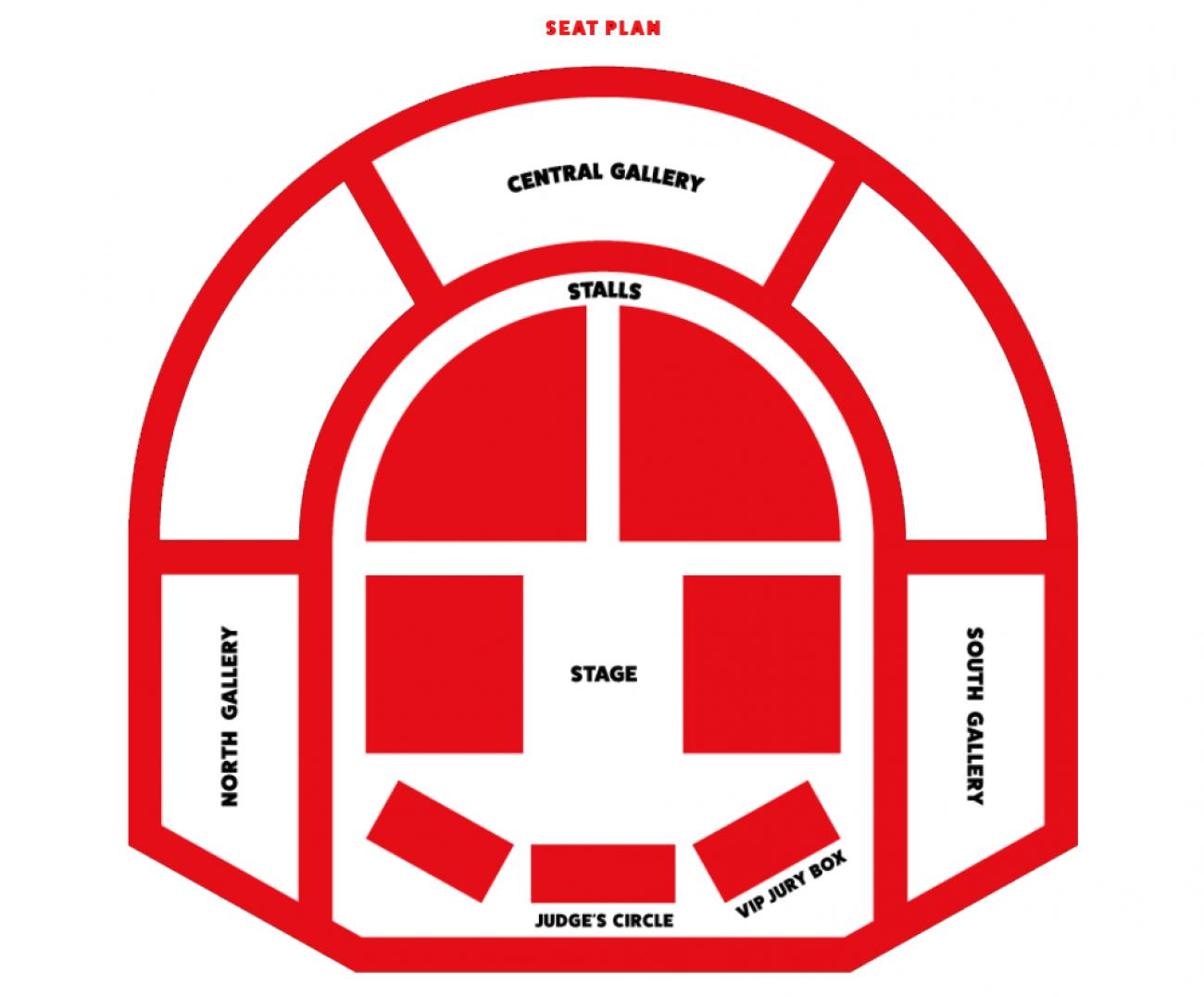 London County Hall Zaalplan